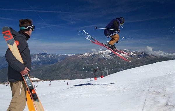 salto sci UCPA Les Deux Alpes