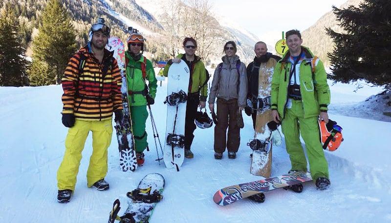 UCPA gruppo Chamonix evasion snowboard 2016